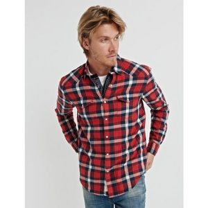 NWT Lucky Brand Santa Fe Western Button Down Shirt